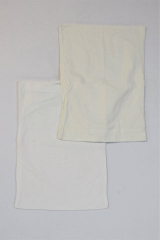 Unbranded 2 Pack White Terry Towel Protector & Winter Pillowcases Unisex 18 months to 4 years