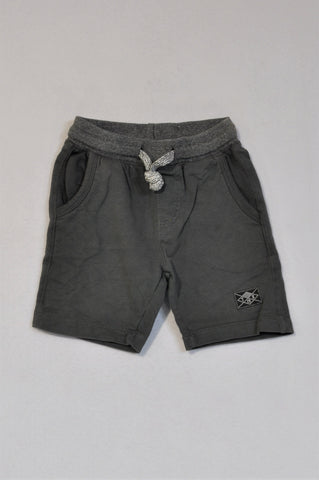 Unbranded Charcoal Grey Banded Shorts Boys 2-3 years