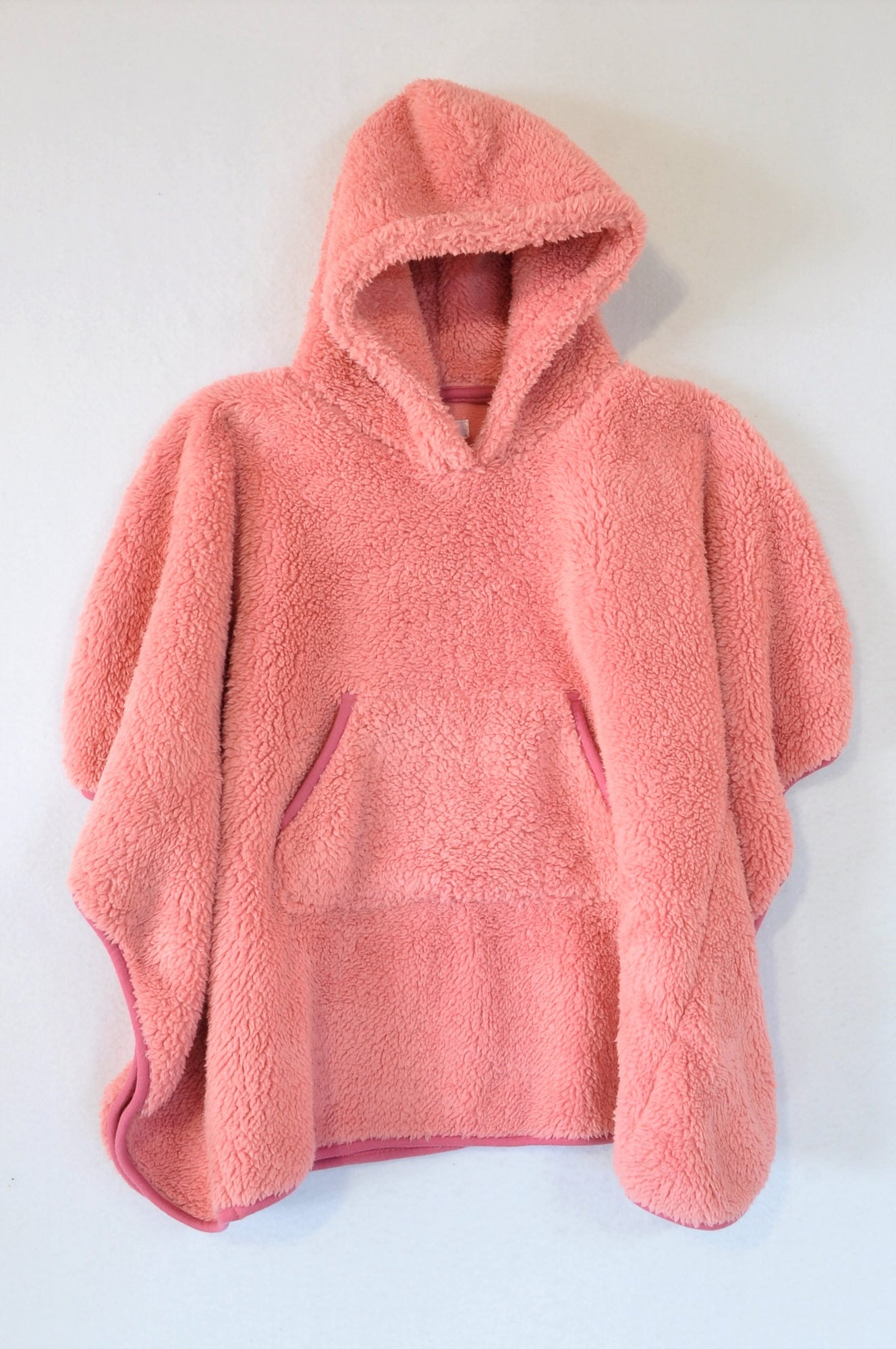 Senqu Pink Fleece Hooded Poncho Top Girls 3-4 years