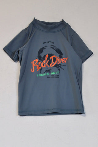 Naartjie Dusty Blue Rock Diver Rash Vest Boys 2-3 years