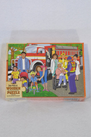 New Smart Play 36 Piece People Who Help Us Wooden Puzzle Unisex 2-6 years