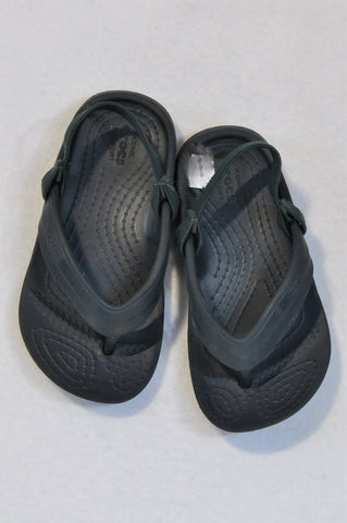 Crocs Size 8 Navy Strap Flip Flops Boys 2-3 years