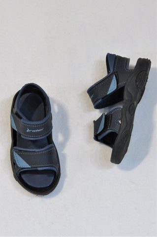 Rider Size 7 Navy & Black Double Velcro Strap Sandals Boys 2-3years