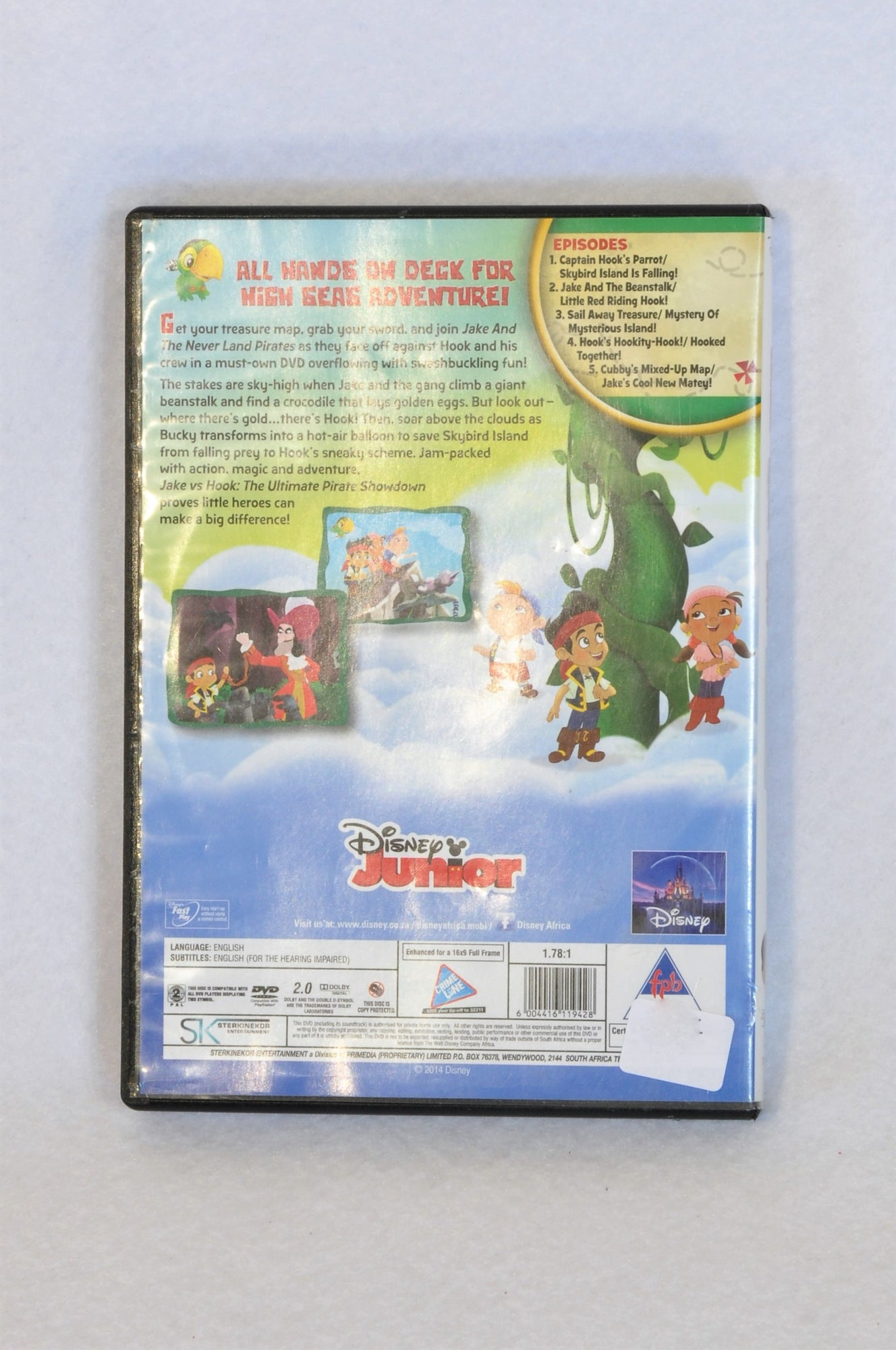 Disney Jake and The Never Land Pirates Jake vs Hook Kids DVDs Unisex 3-10 years