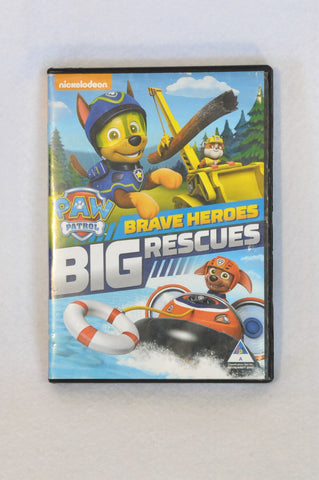 Nickelodeon Paw Patrol Brave Heroes Big Rescues Kids DVD Unisex 3-10 years