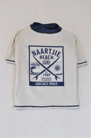Naartjie White Rash Vest Boys 3-4 years