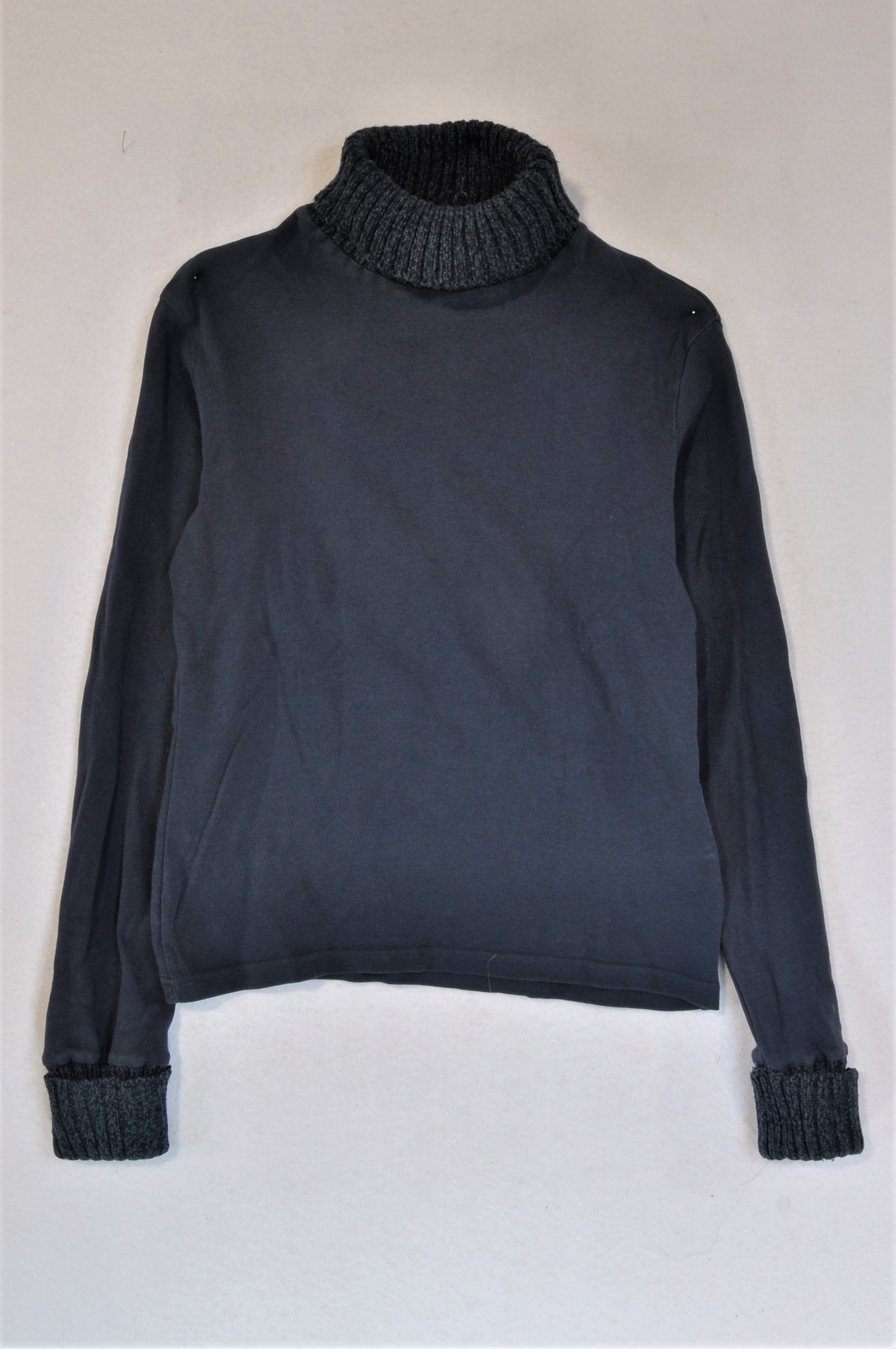 Woolworths Navy Polo Neck Top Women Size S