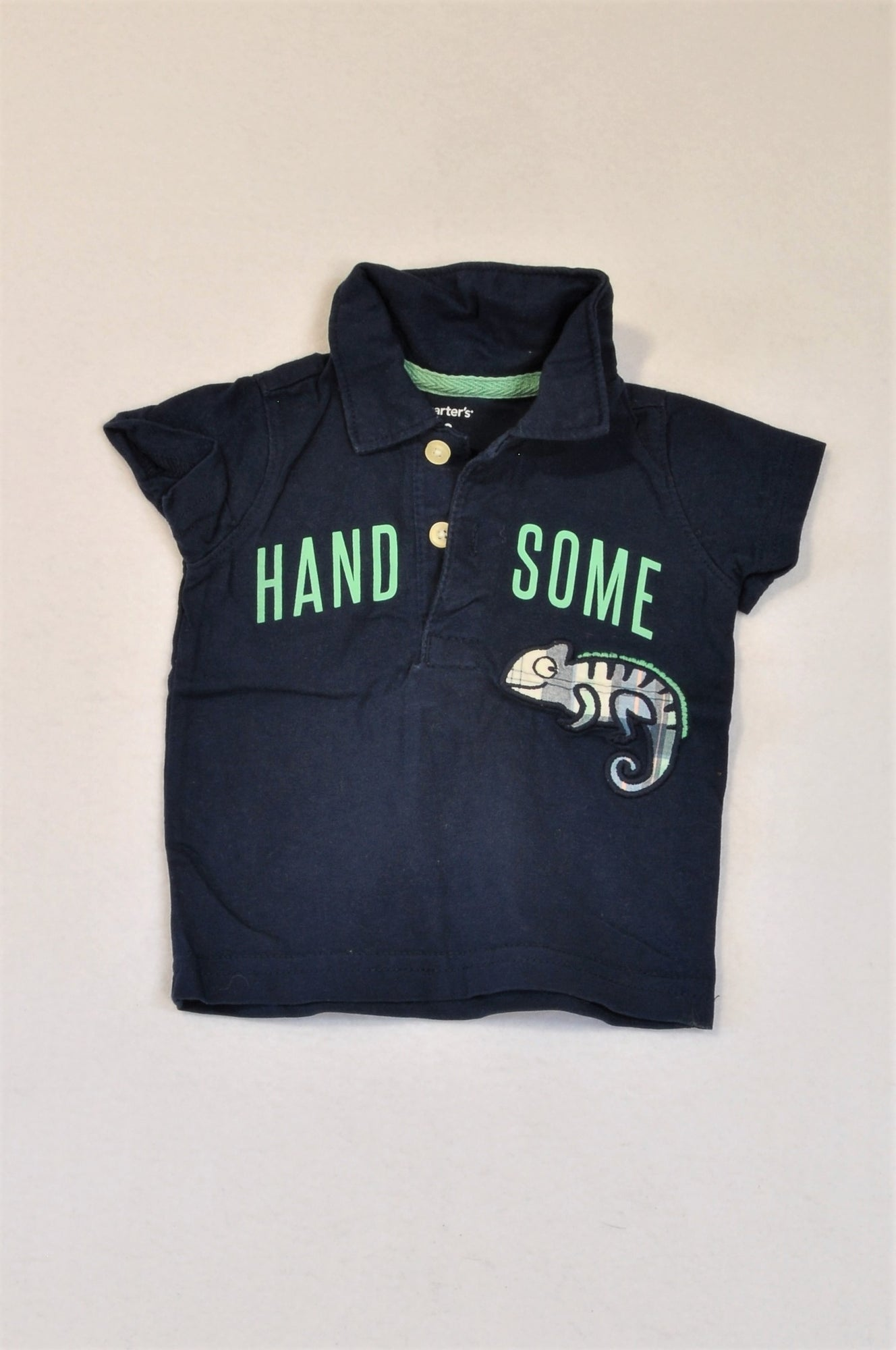 Carter's Navy Handsome Chameleon Golf T-shirt Boys 0-3 months
