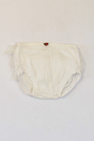 Another Planet White Tulle Rose Detail Bloomers Girls 3-6 months