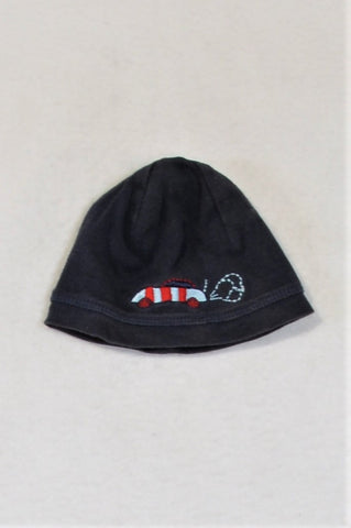 GAP Navy Car Beanie Boys 0-6 months