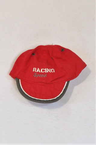 Ergee Red & Grey Racing Speed Hat Boys 2-3 years