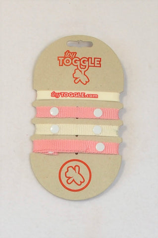 New Toy Toggle Pink & White Motherhood Accessory Girls N-B to 3 years