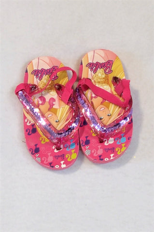 Barbie Pink Portrait Sandals Girls Toddler Size 5