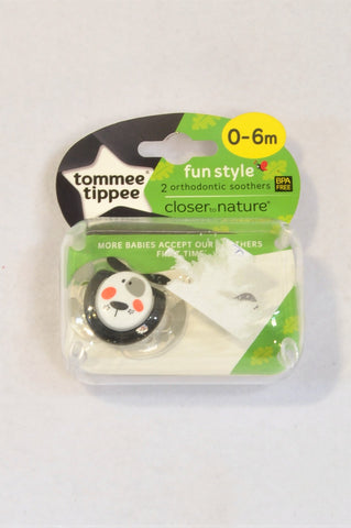 New Tommee Tippee Fun Style Orthodontic Soother Dummy Unisex 0-6 months