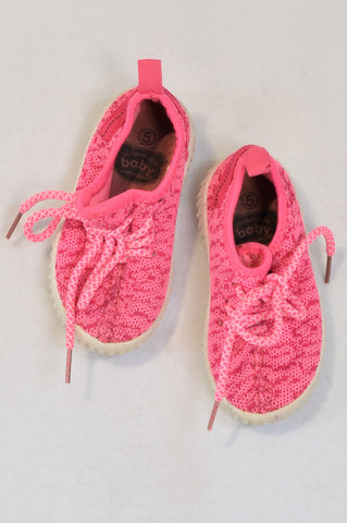 Ackermans Size 5 Bright Pink Stretch Sneaker Shoes Girls 18 months to 3 years