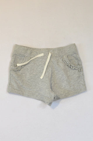 Carter's Grey Heathered Frill Pocket Play Shorts Girls 6-7 years