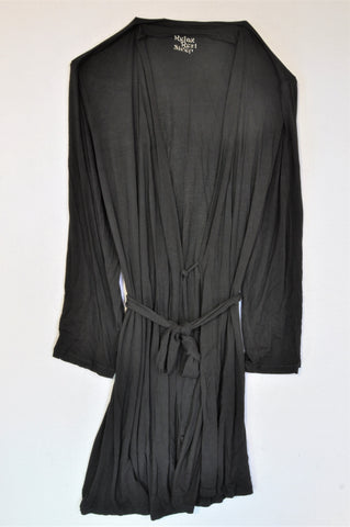 M&S Black Summer Dressing Gown Women Size 14