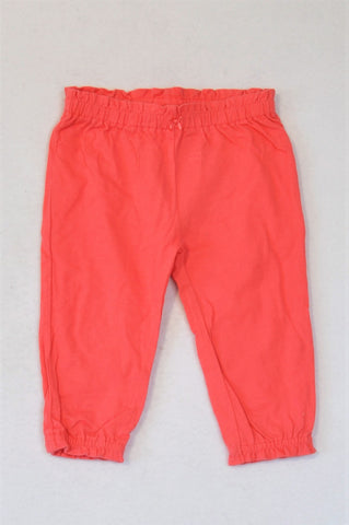 Carter's Coral Frill Banded Pants Girls 3-6 months