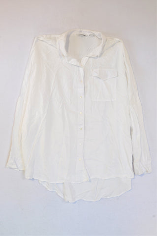 Country Road White Button Up Shirt Women Size XL