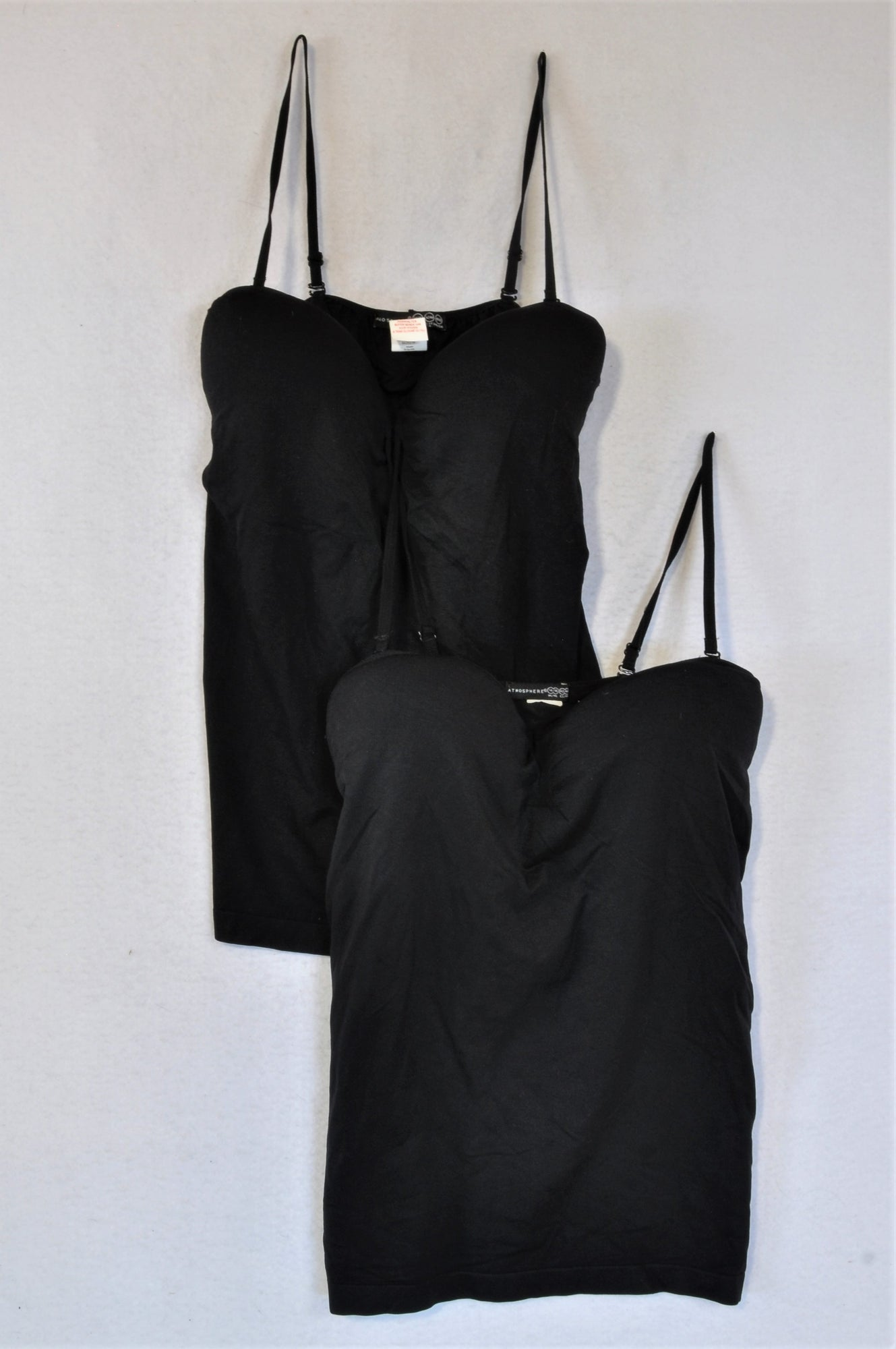 Atmosphere Set Of 2 Black Seamless Support Camisole Tank Tops Women Size 14