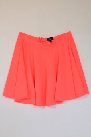 Topshop Bright Lumo Flare Skirt Women Size 12