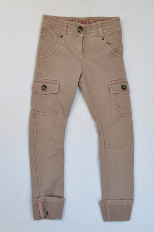 Next Dusty Pink Skinny Cargo Pants Girls 6-7 years