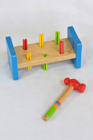 Hape Rainbow Pounder Hammer & Peg Wooden Toy Unisex 1-4 years