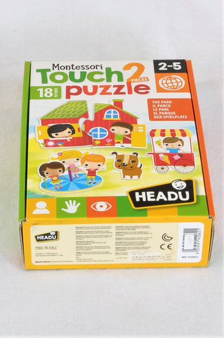 Headu 2 Piece Montessori Touch 2 In the Park Puzzles Unisex 2-5 years