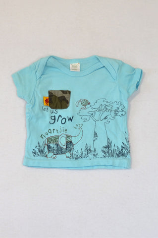 Naartjie Light Blue Let Us Grow T-shirt Boys 0-3 months