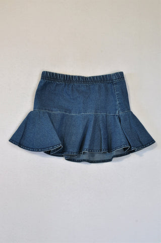 Woolworths Chambray Pleat Skirt Girls 3-4 years
