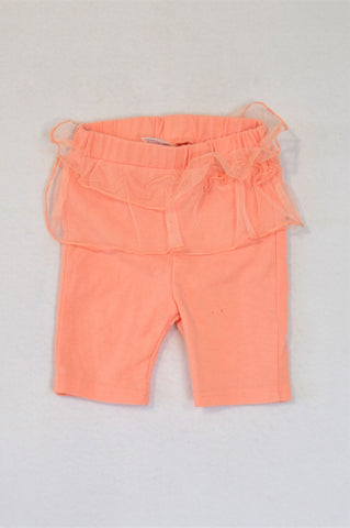 Ackermans Peach Tulle Frill Leggings Girls 3-6 months