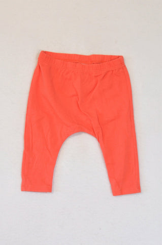 Next Orange Harem Style Leggings Unisex 3-6 months