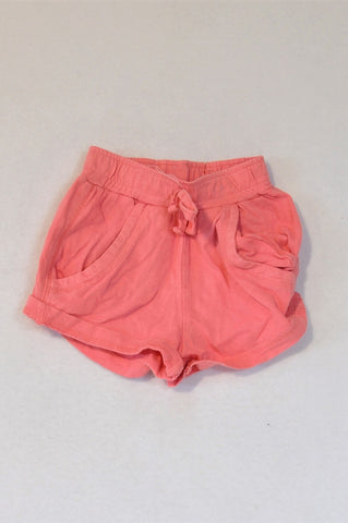 Ackermans Bright Pink Track Shorts Girls 3-6 months