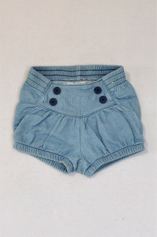 Cotton On Chambray Button Bloomers Unisex 6-12 months