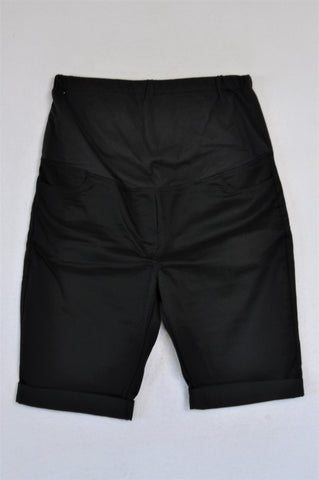 Absolute Maternity Black Roll Up Bermuda Maternity Shorts Size XL