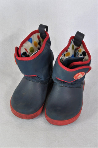 Crocs Navy Cold Weather Snow/Rain Boots Boys Children Size 6.5