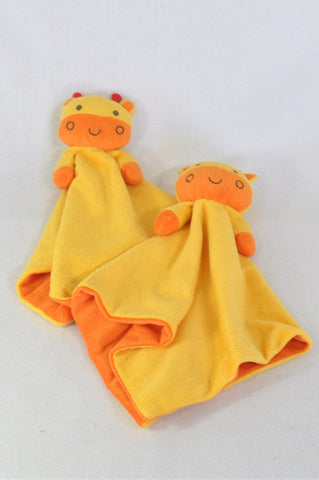 Beansprout Set Of 2 Yellow Cow Soother Unisex 3 months to 2 years