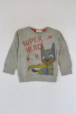 Next Grey Paw Patrol Hero Pullover Top Boys 2-3 years