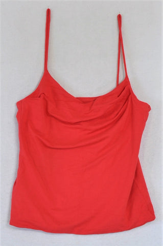 Unbranded Red Strap Top Women Size 8