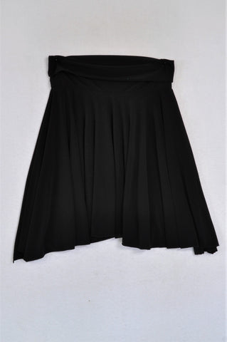 Next Banded Black Pleat Fall Skirt Women Size S