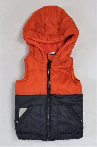 KDS Orange And Black Body Warmer Boys 3-4 years