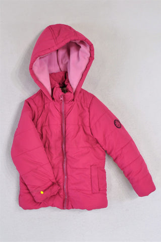 Pick 'n Pay Pink Puffer With Fleece Lining Jacket Girls 3-4 years