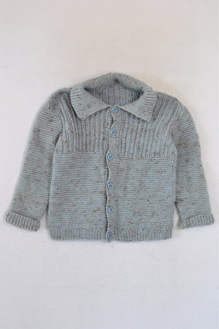 Unbranded Light Blue Knit Cardigan Boys 6-7 years