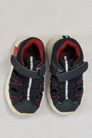 Woolworths Navy And Red Shoes Boys Toddler Size 5