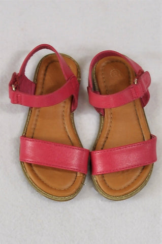 Baby Limited Pink Velcro Strap Sandals Girls Toddler Size 6