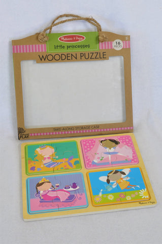 Melissa & Doug Little Princesses Natural Play Wooden Puzzle Girls 18 months-4 years