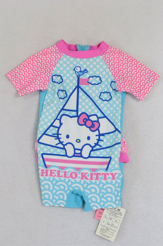 New Pick 'n Pay Blue & Pink Hello Kitty Swimming Costume Girls 3-6 months