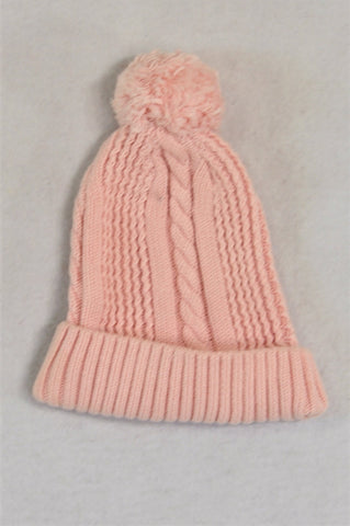 Woolworths Pink Knit Pom Pom Beanie Girls 6-12 months