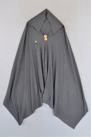 Unbranded Grey With Brown Buttons Poncho Nursing Cover N-B to 2 years