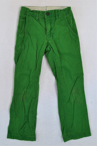 GAP Green Hook Clasp Button Jeans Boys 7-8 years